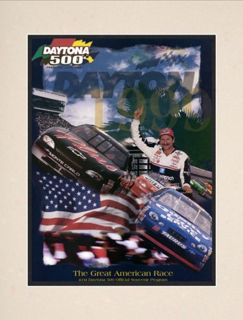 41st Annual 1999 Daytona 500 Matted 10.5 X 14 Program Print