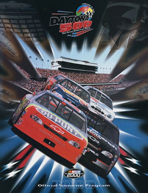 42nd Annuual 2000 Daytona 500 Canvas 22 X 30 Program Print