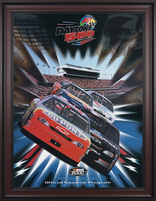 42nd Annual 2000 Daytona 500 Framed 36 X 48 Program Print