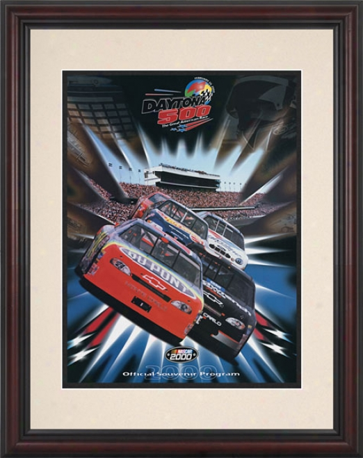 42nd Annual 2000 Daytona 500 Framed 8.5  X 11 Program Print