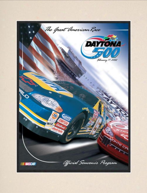44th Annual 2002 Daytona 500 Matted 10.5 X 14 Program Print