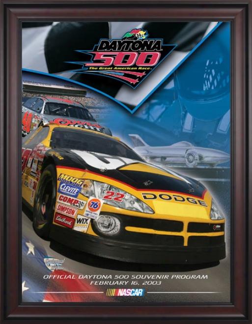 45th Annual 2003 Daytona 500 Framed 36 X 48 Program Print
