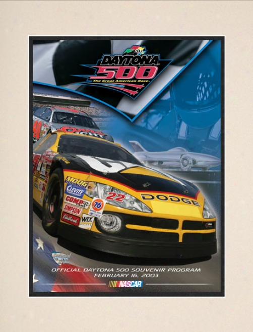 45th Annual 2003 Daytona 500 Matted 10.5 X 14 Program Print