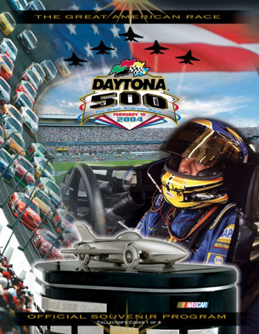 46th Annual 2004 Daytona 500 Canvas 36 X 48 Program Print
