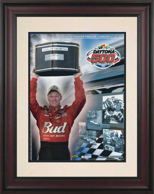 47th Annual 2005 Daytona 500 Framed 10.5 X 14 Program Print