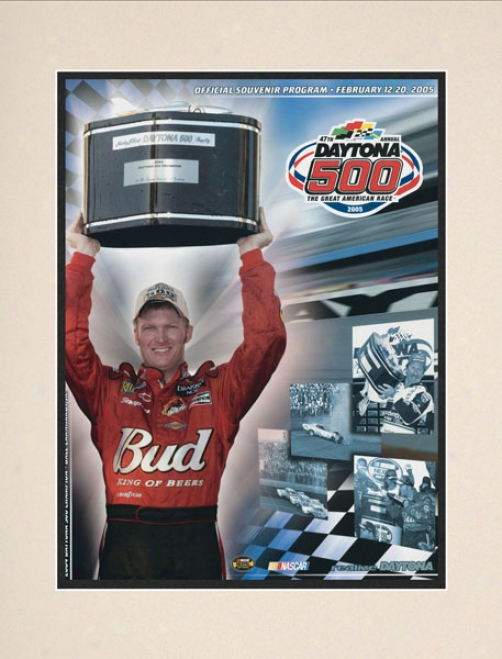 47th Annual 2005 Daytona 500 Matted 10.5 X 14 Program Print