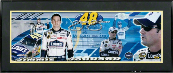 #48 Jimmie Johnson Limited Edition Panoramic Framed Print