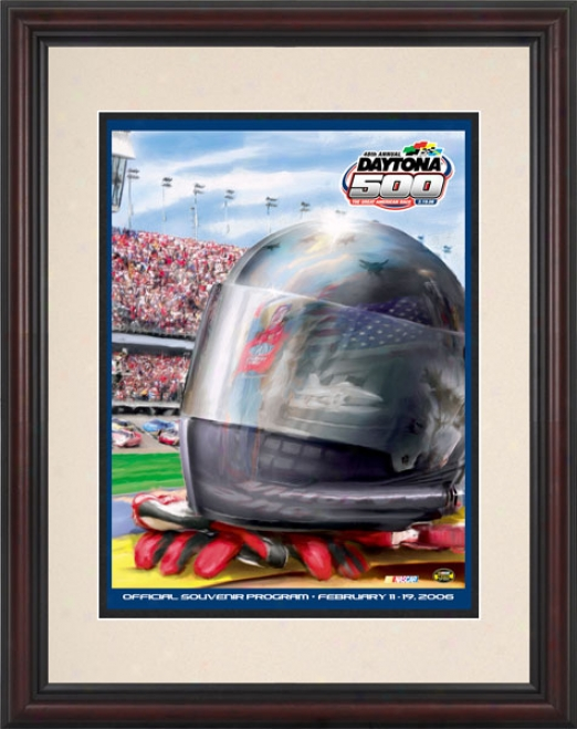 48th Annual 2006 Daytona 500 Framed 8.5  X 11 Program Print
