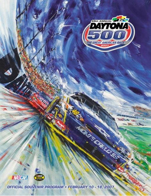49th Annual 2007 Daytona 500 Canvas 36 X 48 Program Print