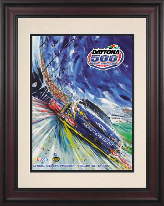 49th Annual 2007 Daytona 500 Framed 10.5 X 14 Program Print