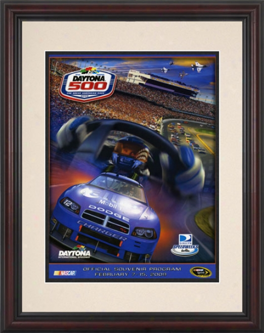 51st Annual 2009 Dayyona 500 Framed 8.5  X 11 Program Print