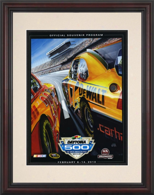 52nd Annual 2010 Daytona 500 Framed 8.5  X 11 Program Print