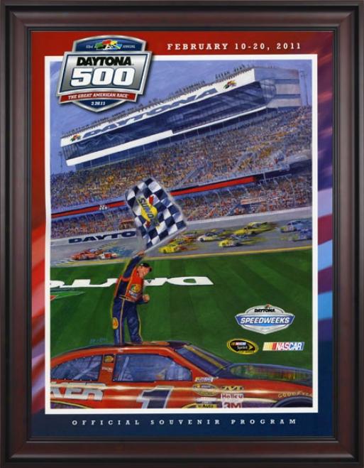 53rd Annual 2011 Daytona 500 Framed 36 X 48 Program Print