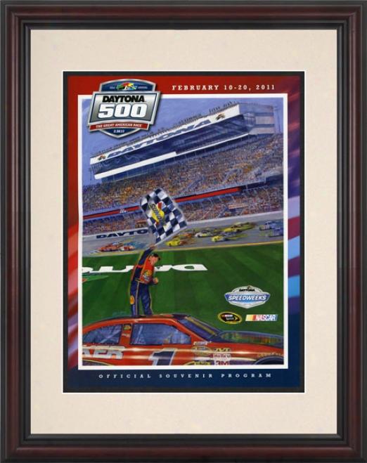 53rd Annual 2011 Daytona 500 Framed 8.5  X 11 Program Print
