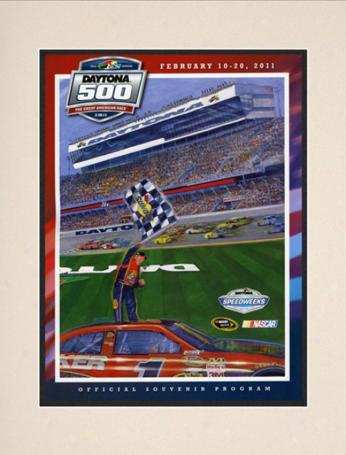 53rd Annual 2011 Daytona 500 Matted 10.5 X 14 Program Print