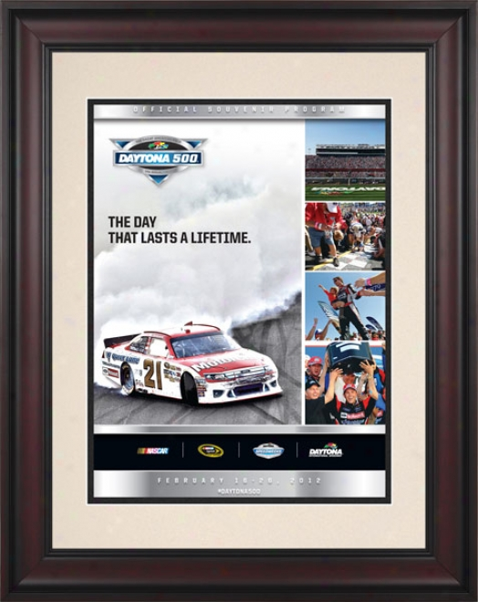 54th Annual 2012 Daytona 500 Framed 10.5 X 14 Program Print
