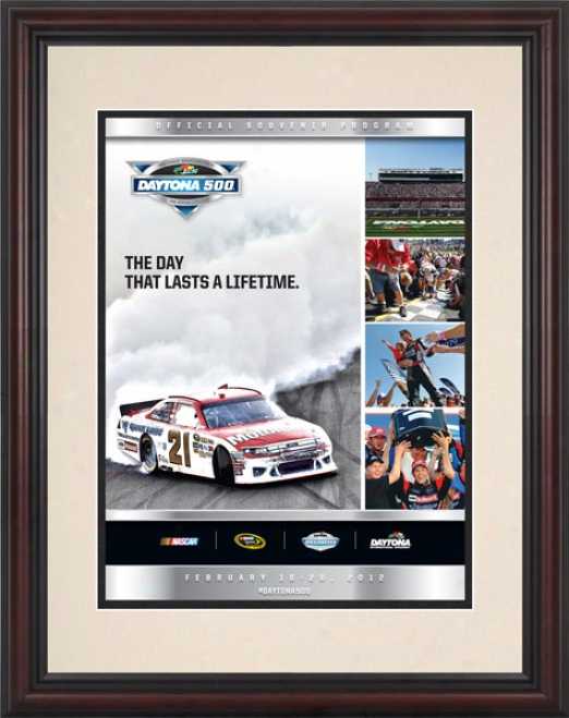 54th Annual 2012 Daytona 500 Framed 8.5  X 11 Program Print