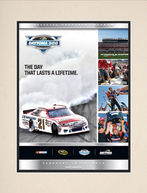 54yh Annual 2012 Daytona 500 Matted 10.5 X 14 Program Print