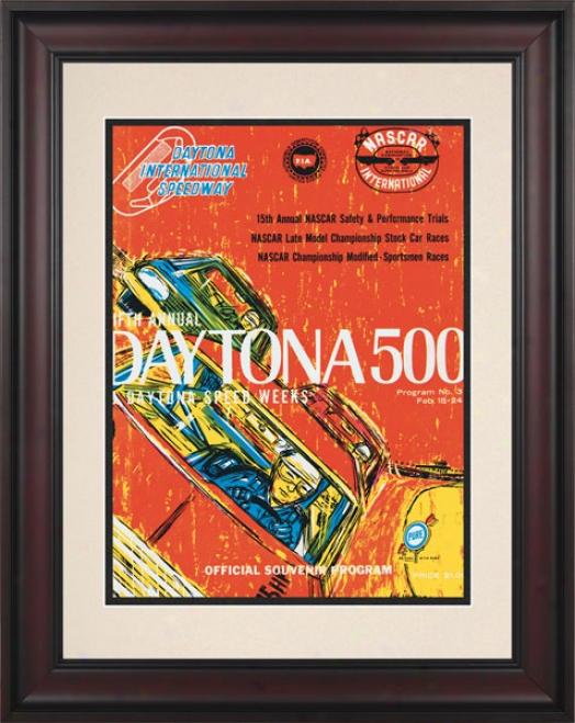 5th Annual 1963 Daytona 500 Framed 10.5 X 14 Program Print