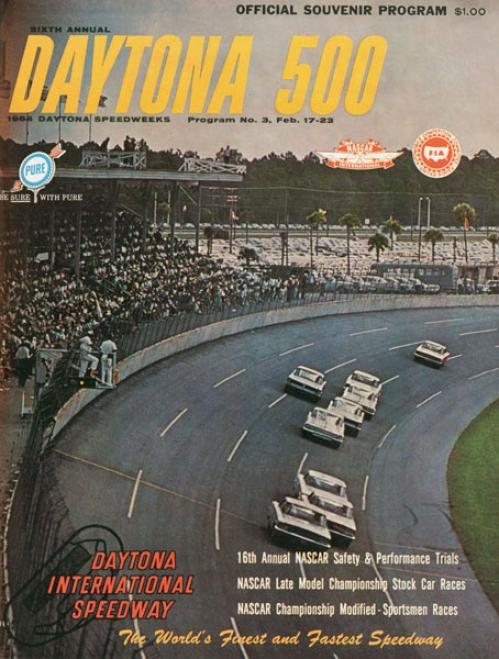6th Annual 1964 Daytona 500 Canvas 36 X 48 Program Print