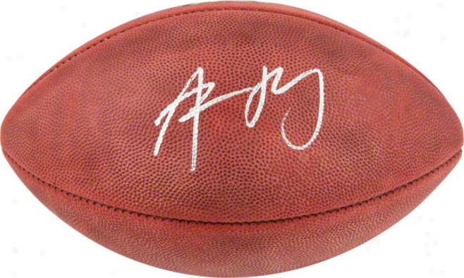 Aaron Rodgers Autographed Football  Details: Super Bowl Xlv Champions Logo