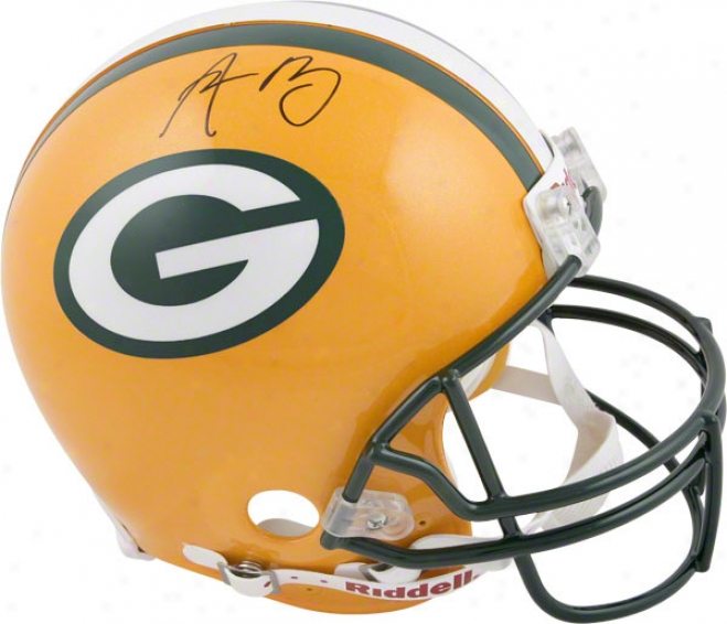 Aaron Rodgers Autographed Pro-lime Helmet  Particulars: Gree nBay Packers, Authentic Riddell Helmet
