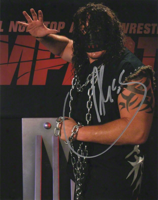 Abyss Autographed 8x10 Photograph With The Monster Inscription