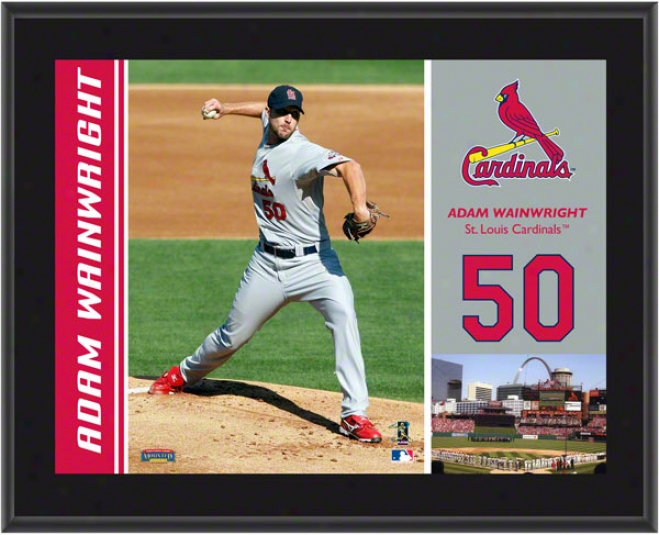 Adam Wainwright Plaque  Details: Sr. Louis Cardinals, Sublimated, 10x13, Mlb Plaque