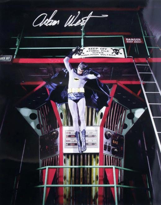 Adam West - In Batcave - Autographed 16x20 Phoograph