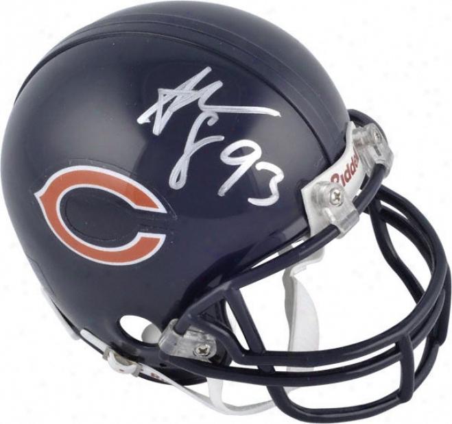 Adewale Ogunleye Chicago Bears Autographed Mini Helmet