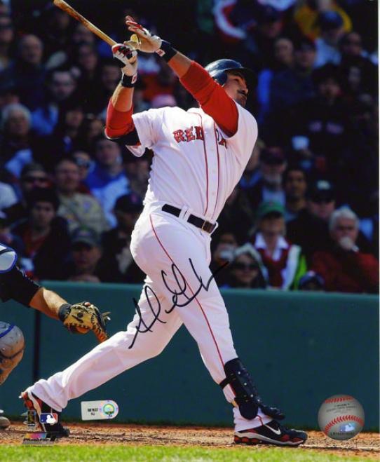 Adrian Gonzalez Autographed Photograph  Details: Bosyon Red Sox, 8x10