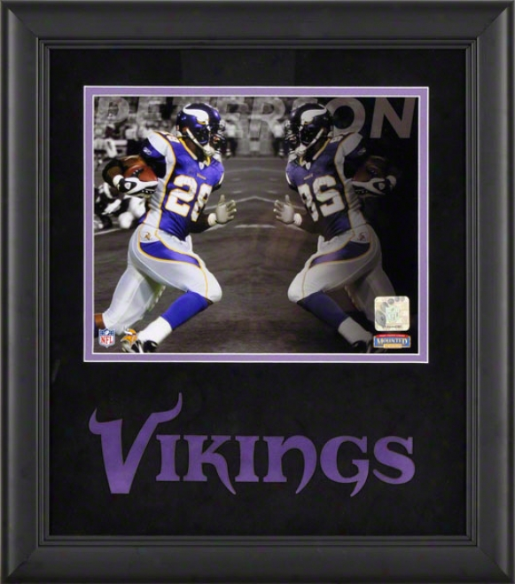 Adrian Peterson Framed Photograph  Details: 8x10, Reflections, Minnesota Vikings