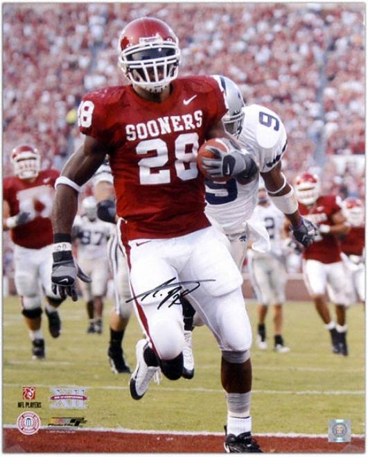 Adrian Peterson Oklahoma Sooners Autographed 162x0 Photo