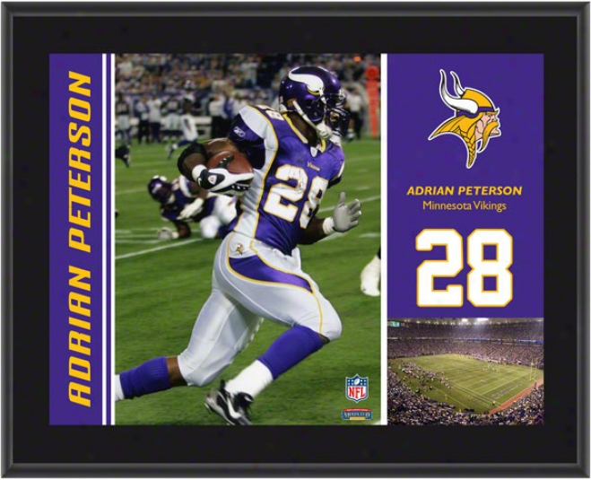Adrian Peterson Plaque  Details: Minnesota Vikings, Sublimated, 10x13, Nfl Plaque