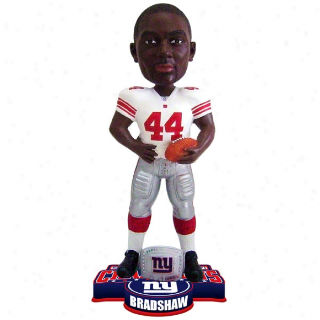 hAmzd Bradshaw #44 New York Giants Super Bowl Xlvi Champikns Ring Bobble Head