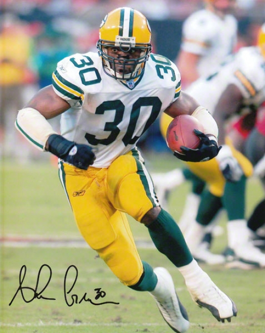 Ahman Green Green Bay Packers 8x10 Autographed Photograph