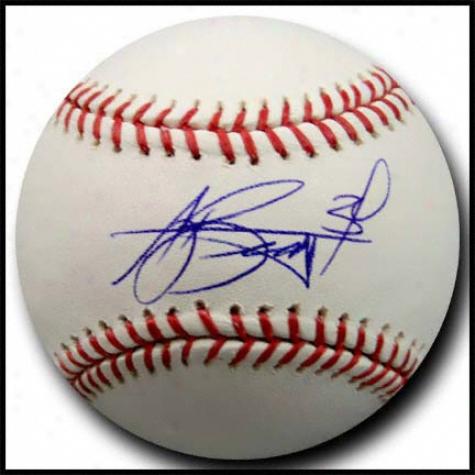 Aj Burnett Signdd Authoritative Major League Baseball