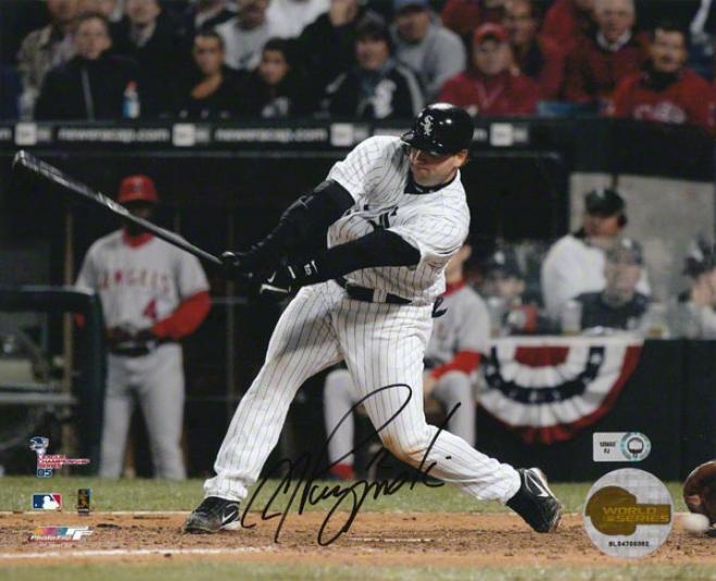 A.j. Pierzynski Autographed Photograph  Details: Chicago White Sox, 8x10, Alcs Gaje 2 Dropped 3dr Strike