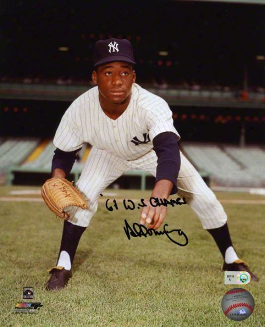 Al Downing Autographed Photograph  Details: New York Yankees, 61 Ws Champs Inscription, 8x10