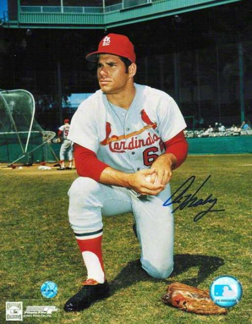 Al Hrabosky St. Louis Cardinals Autobraphed 8x10 Photo Without The Beard