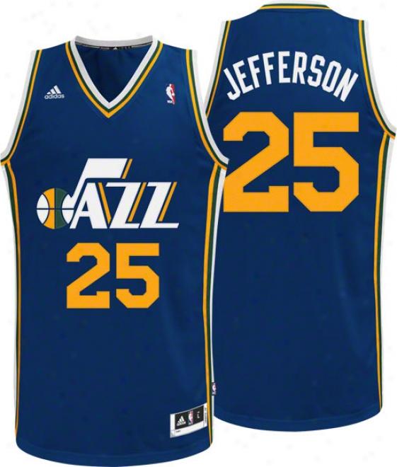 Al Jefferson Jersey: Adidas Navy Swingman #25 Utah Jazz Jersey