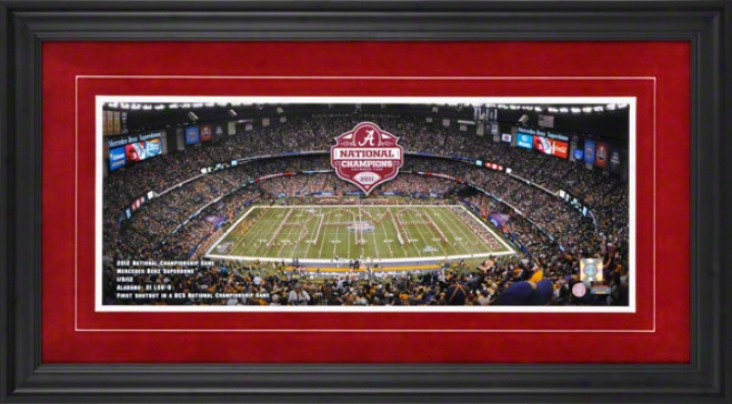 Alabama Crimson 2011 Bcs National Champions Tide Framed Panoramic