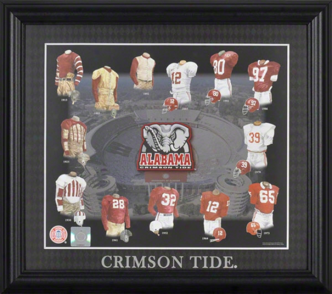 Alabama Crimson Tide 13x15 Framed Print  Details: Evolution