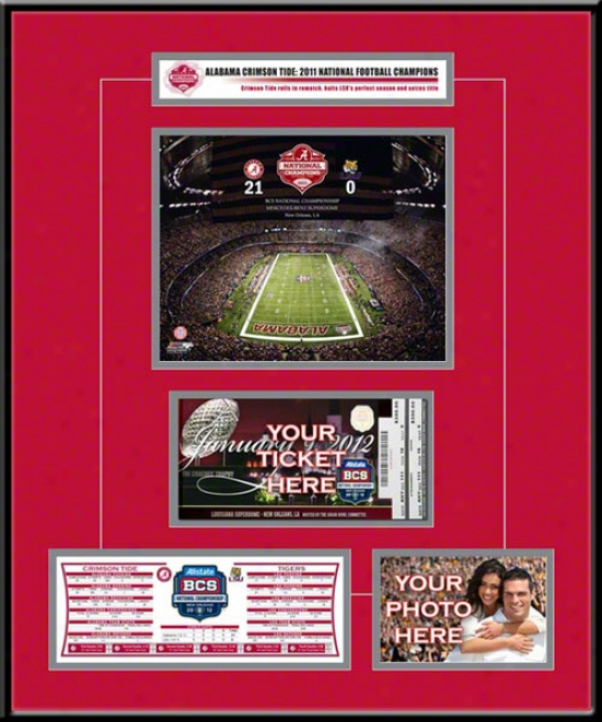 Alabama Crimson Tide 2011 Bcs Champions Ticket Frame