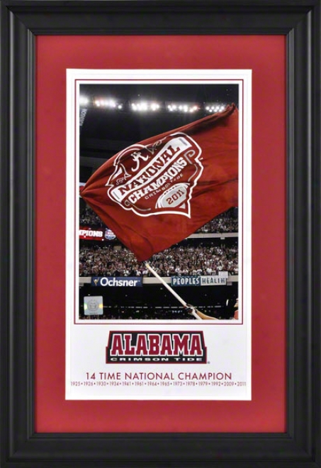 Alabama Crimson Tide 2011 Bcs National Champions 10x18 Framed Legacy Print