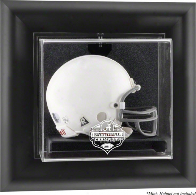 Alabama Crimson Tide 2011 Bcs National Chamions Black Framed Wall Mountable Mini Helmet Display Case