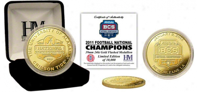 Alabama Crimson Tide 2011 Bcs National Champions Commemorative Gold Coin