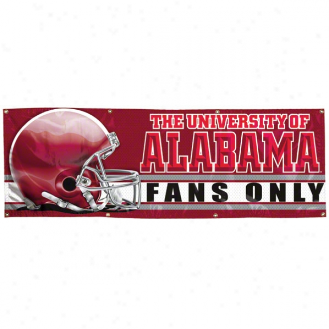 Alabama Crimson Tide 2x6 Vinyl Banner