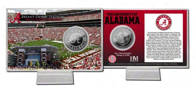 Alabama Crimson Tide Bryant-denny Stadium Silver Coin Card