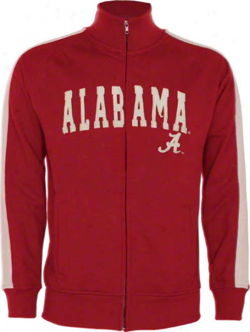 Alabama Crimson Tide Cardinal Pinnacle Slub French Terry Track Jacket